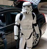 Guarding the Mazda Millennium Falcon